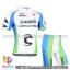 ชุดจักรยานแขนสั้นทีม Cannondale 15 (02) สีขาวฟ้าเขียว