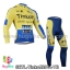 ชุดจักรยานแขนยาวทีม Tinkoff SAXO 14 สีเหลืองน้ำเงิน
