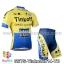 ชุดจักรยานแขนสั้นทีม Tinkoff SAXO 14 (01) สีเหลืองน้ำเงิน