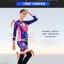 ชุดจักรยานผู้หญิงแขนยาวขายาว CheJi 15 (09) สีน้ำเงินลาย Rose Kiss thumbnail 12