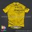 เสื้อจักรยานแขนสั้นทีม TWINSIX 16 (05) สีเหลืองลายดำ