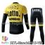 ชุดจักรยานแขนยาวทีม Bianchi 15 (01) สีเหลืองขาวดำ thumbnail 2