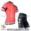 ชุดจักรยานแขนสั้นทีม Nalini 14 (02) สีแดงดำ