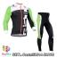 ชุดจักรยานแขนยาวทีม Castelli 14 สีดำขาวเขียว