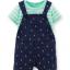 Carter's : ชุดเอี๊ยมสีน้ำเงินลายสมอเรือ (เฉพาะ เอี๊ยม) ผ้า cotton เนื้อนิ่ม สวย ใส่ได้ทั้ง ช / ญ size 3m thumbnail 1