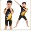 เสื้อจักรยานเด็กแขนสั้น CheJi สีเหลืองดำ thumbnail 9