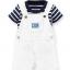 Carter's : ชุดเอี๊ยมสีขาว (เฉพาะ เอี๊ยม) ผ้า cotton เนื้อนิ่ม สวย ใส่ได้ทั้ง ช / ญ size 6m thumbnail 1
