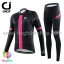 ชุดจักรยานผู้หญิงแขนยาวขายาว CheJi 15 (07) สีดำแถบชมพู สั่งจอง (Pre-order) thumbnail 1