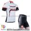 ชุดจักรยานแขนสั้นทีม Castelli 14 สีขาวดำแดง