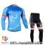 ชุดจักรยานแขนยาวทีม Castelli 14 สีฟ้าลาย