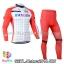ชุดจักรยานแขนยาวทีม Katwa 14 (01) สีแดงขาว