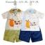 ชุดเสื้อโปโลปักลายยีราฟ พร้อมกางเกงสีน้ำเงิน และ สีเขียวขี้ม้า thumbnail 1