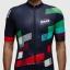 เสื้อจักรยานแขนสั้นทีม MAAP 16 (19) สีน้ำเงินเข้มลายแดงเขียวขาว