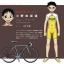 ชุดจักรยานแขนสั้น โอตาคุน่องเหล็ก Sohoku สีเหลืองขาวแดง thumbnail 8