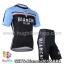 ชุดจักรยานแขนสั้นทีม Bianchi 14 สีน้ำเงินดำ