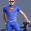 เสื้อจักรยานแขนสั้น Superman 2014 สีน้ำเงินแดง สั่งจอง (Pre-order) thumbnail 6