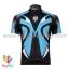 เสื้อจักรยานแขนสั้นทีม Bianchi 2015 สีดำฟ้า