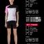 ชุดจักรยานผู้หญิงแขนสั้นขาสั้น CheJi 14 (09) สีขาวดำชมพู สั่งจอง (Pre-order) thumbnail 2