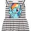 H&M : เดรสลายขวาง ม้าโพนี่ Rainbow Dash ผ้า cotton ยืด (งานช้อป) size : 1-2y / 2-4y / 4-6y / 6-8y / 8-10y / 10-12y / 12-14y thumbnail 2