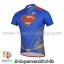 เสื้อจักรยานแขนสั้น Superman 2014 สีน้ำเงินแดง