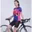 ชุดจักรยานผู้หญิงแขนสั้นขาสั้น CheJi 15 (09) สีน้ำเงินลาย Rose Kiss สั่งจอง (Pre-order) thumbnail 8