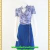 2846ชุดเสื้อผ้าคนอ้วน ชุดทำงานคอจีนลายกุหลาบม่วงสไตล์เปรี้ยวหรูไฮโซชุดคอจีนป้ายสำเร็จเก็บทรงเนี๊ยบสุด