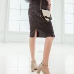 รองเท้าทำงานส้นสูงสีชมพู แบบส้นหนา หุ้มส้น หัวกลม ส้นสูง6cm มีเข็มขัดรัดข้อเท้า ทรงสุภาพ แฟชั่นเกาหลี