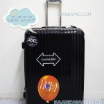 กระเป๋าเดินทางยี่ห้อไฮโปโล 90%PC รุ่น Hipolo-1151 สีดำ 28 นิ้ว ส่งฟรี
