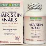 Nature's Bounty Hair Skin and Nails ขนาด 250 เม็ดวิตามินบำรุงผมดกหนา ผิวกระจ่างใส เล็บสวย