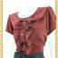 1866เสื้อผ้าคนอ้วน ชุดทำงานปกบัวต่อระบายครึ่งตัวแต่งกระดุมหน้าเจาะคอหลังเพื่อความสะดวกในการสวมใส่แขนตุ๊กตามีซับใน thumbnail 3