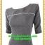 2687ชุดเดรสทำงาน เสื้อผ้าคนอ้วน ผ้าอินโดลายจุดซับในคอปาดแขนยาวจีบสวยหวานเรียบๆหรูอินเทรนด์ thumbnail 3