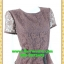2516ชุดทํางาน เสื้อผ้าคนอ้วนชุดคอกลมเข้ารูปสไตล์workingเบรคอกด้วยลายลูกไม้ที่ปรับสรีระและเพิ่มความมั่นใจ ภูมิฐาน น่าเชื่อถือ thumbnail 2