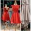 รหัส ชุดราตรี : PF104 ชุดราตรีสั้น เดรสออกงาน ชุดไปงานแต่งงาน ชุดแซก สีแดงสด สวยด้วยลูกไม้ด้านบนและเรียบหรูด้วยผ้าซาติน thumbnail 4