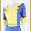 3188เสื้อผ้าคนอ้วนผ้าไทยสีฟ้าทอลายสองหน้ารีดกาวด้านในเพิ่มความเนี๊ยบให้ชุดอยู่ทรงสวยสวมใส่หรูมั่นใจ thumbnail 3