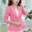 เสื้อสูทผู้หญิงใส่ทำงาน แต่งระบายที่ชายเสื้อสวยสไตล์เกาหลี-1205-สีชมพู thumbnail 1