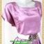 2875เสื้อผ้าคนอ้วน ชุดออกงานผ้าซาตินสีกลีบบัวโดดเด่นกระโปรงจีบแยกเป็นชั้นๆไล่ระดับสวยงามอลังการชุดสะท้อนไฟสดใสหรูหรา thumbnail 2