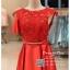 รหัส ชุดราตรี : PF104 ชุดราตรีสั้น เดรสออกงาน ชุดไปงานแต่งงาน ชุดแซก สีแดงสด สวยด้วยลูกไม้ด้านบนและเรียบหรูด้วยผ้าซาติน thumbnail 2