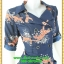 2966ชุดทํางานคนอ้วน เสื้อผ้าคนอ้วนลายเสือ สไตล์โค้ทชุดยาวคลุมเข่า คล่องตัว กระฉับกระเฉง กระดุมหน้าปลายแขนอินธนูปกฮาวายสไตล์สาวมั่น thumbnail 2