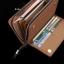 กระเป๋าสตางค์ใบยาว กระเป๋าสตางค์ผู้ชาย หนัง PU สีน้ำตาลอ่อน thumbnail 6