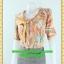 2438ชุดทํางาน เสื้อผ้าคนอ้วนลายพริ้นท์พรางสรีระไม่เน้นจุดสนใจคอผูกโบสไตล์สุภาพ เรียบร้อย มีซับใน thumbnail 3