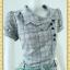 1686ชุดเดรสทำงาน เสื้อผ้าคนอ้วนพิมพ์ลายสก็อตเทาทรงต่อเอวต่ำกระเป๋าล้วงสไตล์สปอร์ต โดดเด่นคอตลบบัวเอียงข้าง thumbnail 3