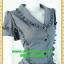 2424ชุดเดรสทำงาน เสื้อผ้าคนอ้วนปกเทเลอร์ใหญ่กระดุมหน้าสีเทาสไตล์เนี๊ยบ ทรงสุภาพเป็นทางการสวมใส่ทำงาน thumbnail 2
