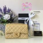 Chanel mini สีเบจ งานHiend 1:1
