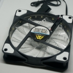 DC 12V cooling fan 120mm with LED (สีขาว)