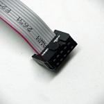สายแพร์พ้อมเข้าหัว SIP 10pin ยาว 70cm (ระยะห่างระหว่างขา 2.54mm)