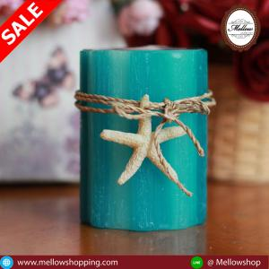 Stripe Pillar Candle 3x4
