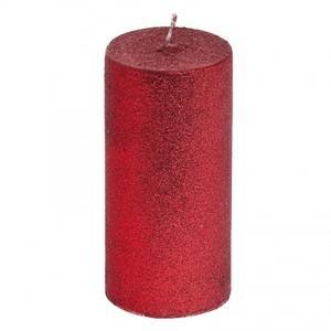 เทียน Glitter สีแดง