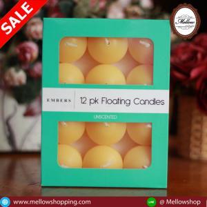 เทียนหอมลอยน้ำ [Floating Candle] กลิ่นสับปะรถ (PINEAPPLE) 12 ชิ้น ต่อแพ็ค