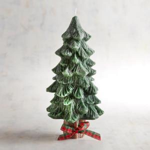เทียนต้นสนคริสมาสมีฐานไร้กลิ่น