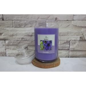เทียนหอมในโหลแก้วอย่างดี 20 ออนซ์ กลิ่นลาเวนเดอร์ (Jar Mottle Candle)
